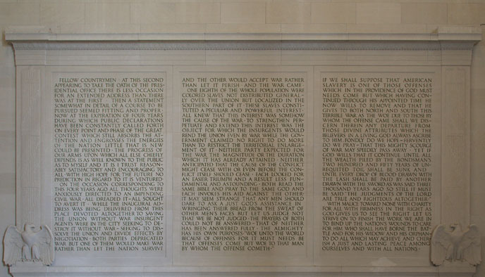 Image of North Wall of the Lincoln Memorial